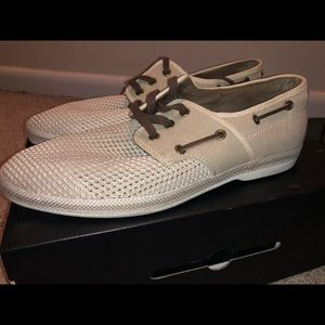 Aldo boat shoes with lace.